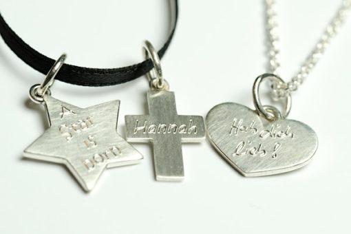 Anhänger Herz Stern Kreuz